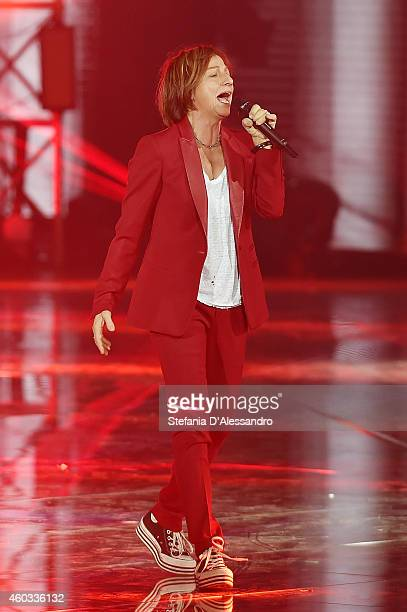 Singer Gianna Nannini performs live at X Factor Italia Tv Show on December 11 2014 in Milan Italy