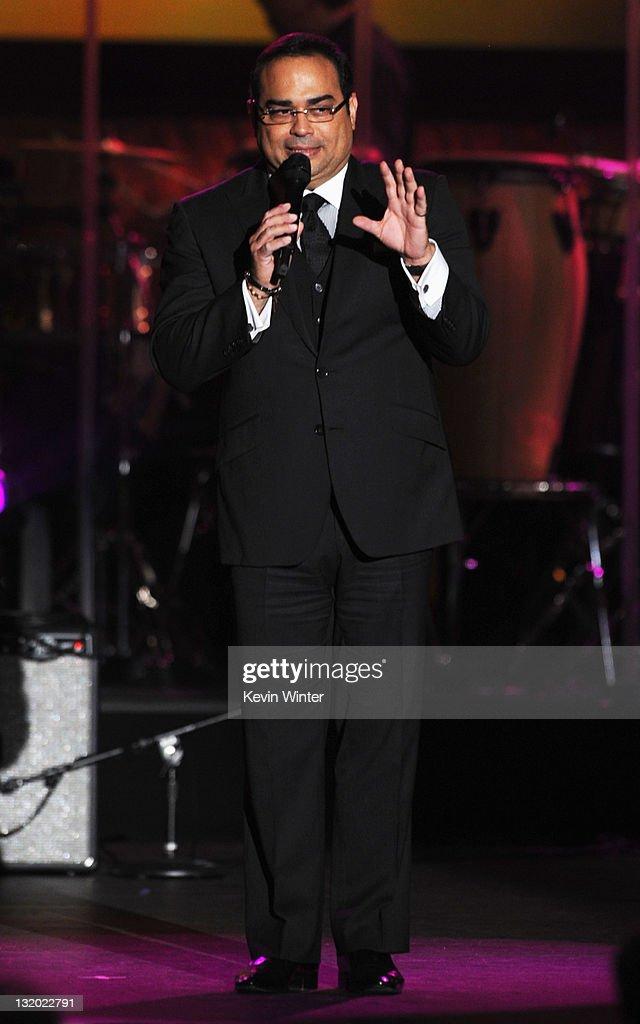 Singer Gilberto Santa Rosa performs onstage at the 2011 Latin Recording Academy Person Of The Year Honoring Shakira held at the Mandalay Bay Resort...