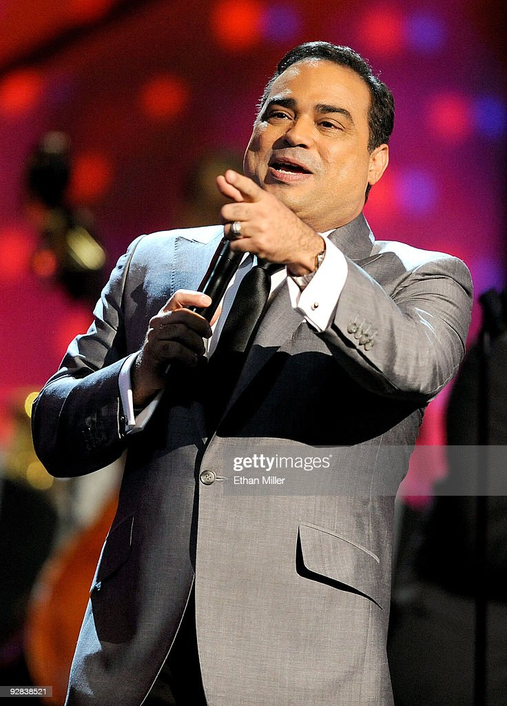 Singer Gilberto Santa Rosa performs onstage during the 10th annual Latin GRAMMY Awards held at Mandalay Bay Events Center on November 5 2009 in Las...
