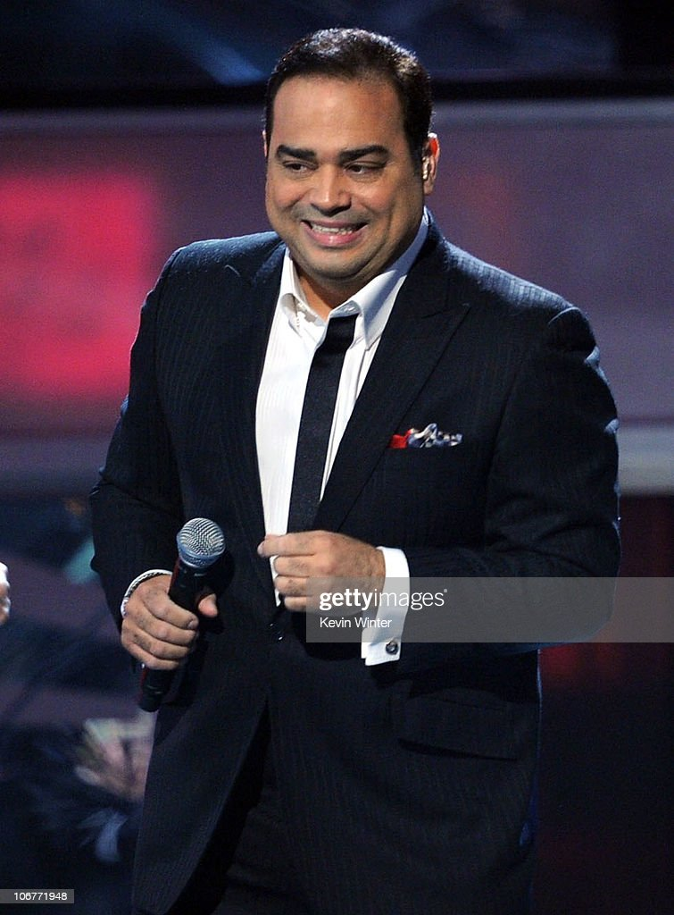 Singer Gilberto Santarosa performs onstage during the 11th annual Latin GRAMMY Awards at the Mandalay Bay Events Center on November 11 2010 in Las...