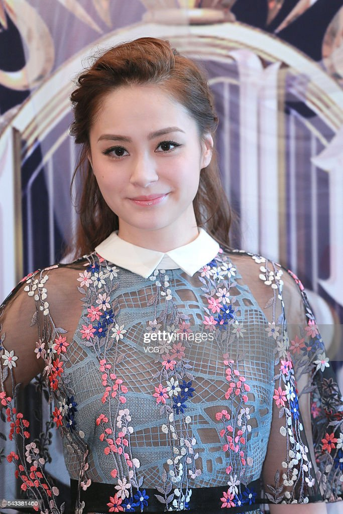 Singer Gillian Chung attends the press conference of variety show 'Hello! Miss Star' on June 22, 2016 in Hong Kong, China.