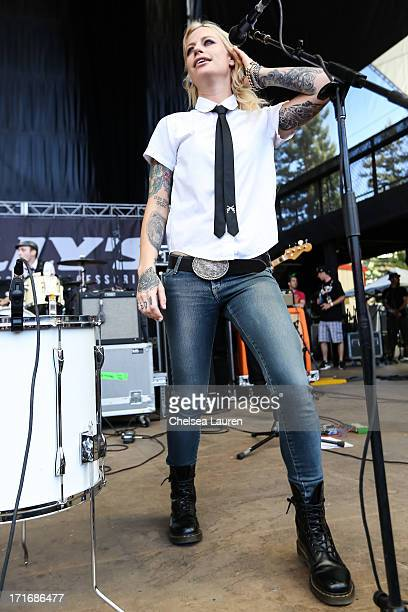 Singer Gin Wigmore performs at the Vans Warped Tour on June 22 2013 at the Shoreline Amphitheater in Mountain View California