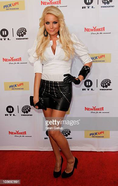 Singer Gina Lisa attends The Dome 55 on August 27 2010 in Hannover Germany