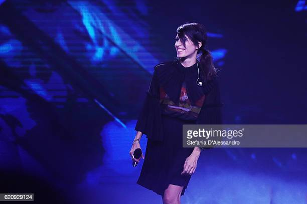 Singer Giorgia attends 'X Factor' Tv Show on November 3 2016 in Milan Italy