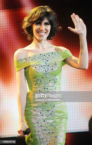 Singer Giorgia performs live during 2012 Wind Music Awards held at Arena of Verona on May 26 2012 in Verona Italy
