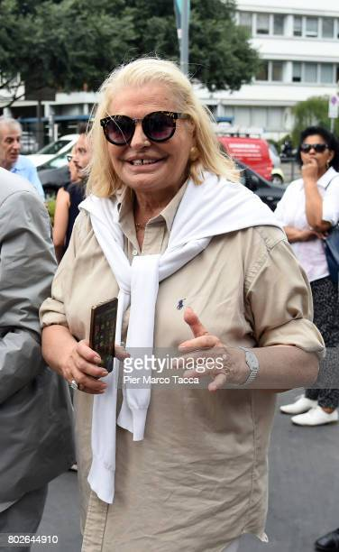 Singer Giovanna arrives for Paolo Limiti funeral services at the church of Santa Maria Goretti on June 28 2017 in Milan Italy Paolo Limiti was born...
