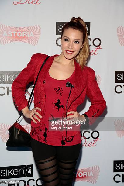 Singer Gisela Llado 'Gisela' attends 'Choco Diet' by Siken at Astoria theater on April 9 2015 in Barcelona Spain