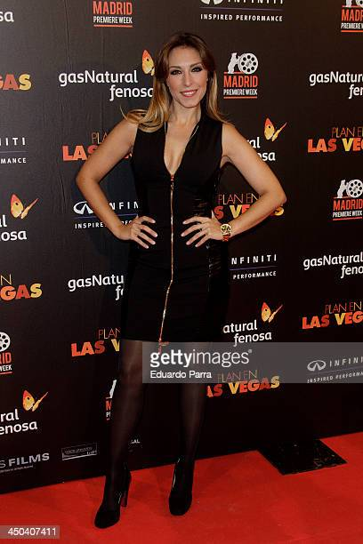 Singer Gisella attends Madrid Premiere Week party photocall at Callao cinema on November 18 2013 in Madrid Spain