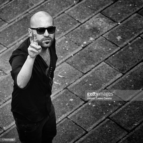 Singer Giuliano Sangiorgi of Negramaro attends 2013 Giffoni Film Festival photocall on July 25 2013 in Giffoni Valle Piana Italy