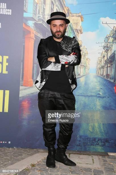 Singer Giuliano Sangiorgi walks the red carpet for 'Non e' Un Paese Per Giovani' on March 16 2017 in Rome Italy