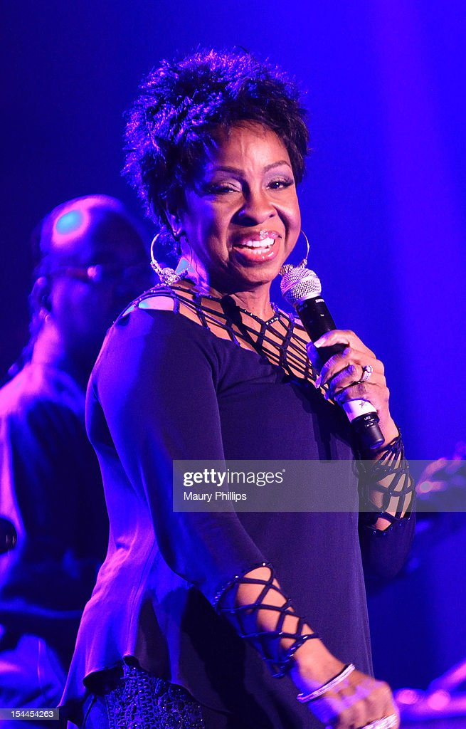 Singer Gladys Knight performs at the Faithful Central Bible Church Event on October 19, 2012 in Century City, California.