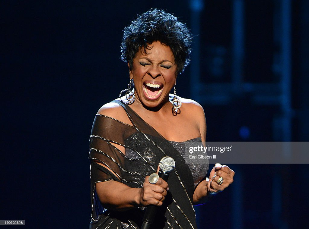 Singer Gladys Knight performs onstage during the 44th NAACP Image Awards at The Shrine Auditorium on February 1, 2013 in Los Angeles, California.