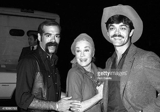 Singer Glenn Hughes of the Village People actress June Havoc and singer Randy Jones of the Village People attend the Billboard's International Disco...