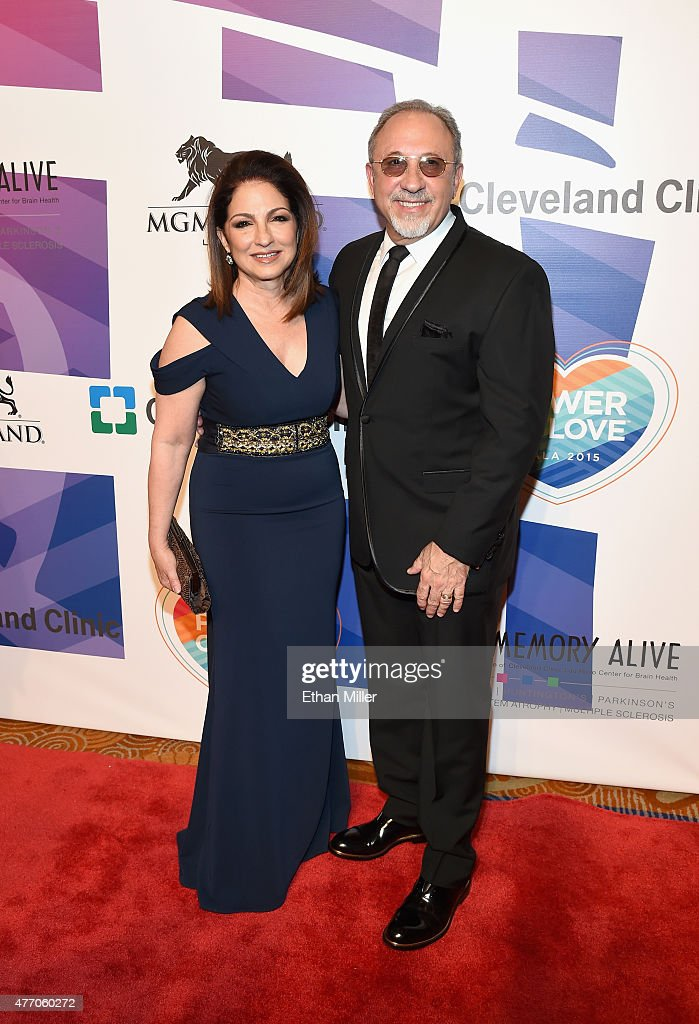 Singer Gloria Estefan (L) and producer and musician Emilio Estefan Jr. attend the 19th annual Keep Memory Alive 'Power of Love Gala' benefit for the Cleveland Clinic Lou Ruvo Center for Brain Health honoring Andrea Bocelli and Veronica Bocelli at MGM Grand Garden Arena on June 13, 2015 in Las Vegas, Nevada.