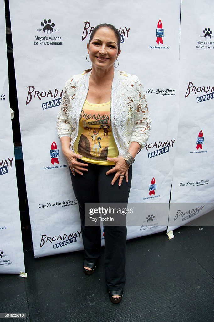 Singer Gloria Estefan attends 18th Annual Broadway Barks! at Shubert Alley on July 30, 2016 in New York City.