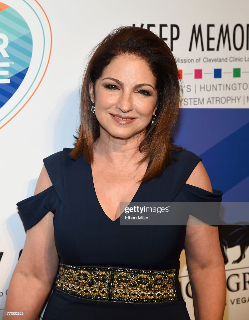 Singer <a gi-track='captionPersonalityLinkClicked' href=/galleries/search?phrase=Gloria+Estefan&family=editorial&specificpeople=201703 ng-click='$event.stopPropagation()'>Gloria Estefan</a> attends the 19th annual Keep Memory Alive 'Power of Love Gala' benefit for the Cleveland Clinic Lou Ruvo Center for Brain Health honoring Andrea Bocelli and Veronica Bocelli at MGM Grand Garden Arena on June 13, 2015 in Las Vegas, Nevada.
