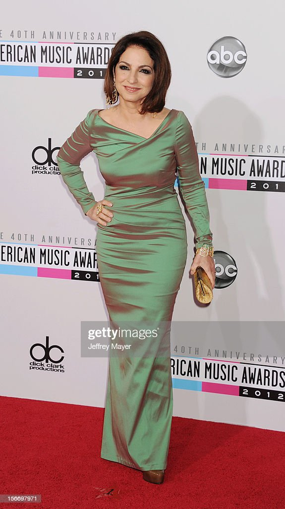 Singer Gloria Estefan attends the 40th Anniversary American Music Awards held at Nokia Theatre L.A. Live on November 18, 2012 in Los Angeles, California.