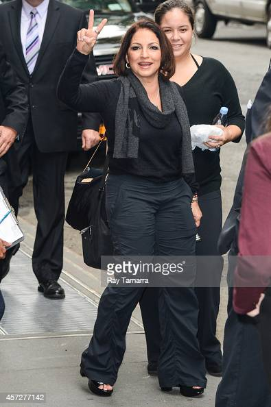Singer Gloria Estefan leaves the 'View' taping at the ABC Lincoln Center Studios on October 15 2014 in New York City