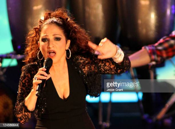 Singer Gloria Estefan performs onstage during the 2011 NCLR ALMA Awards held at Santa Monica Civic Auditorium on September 10 2011 in Santa Monica...