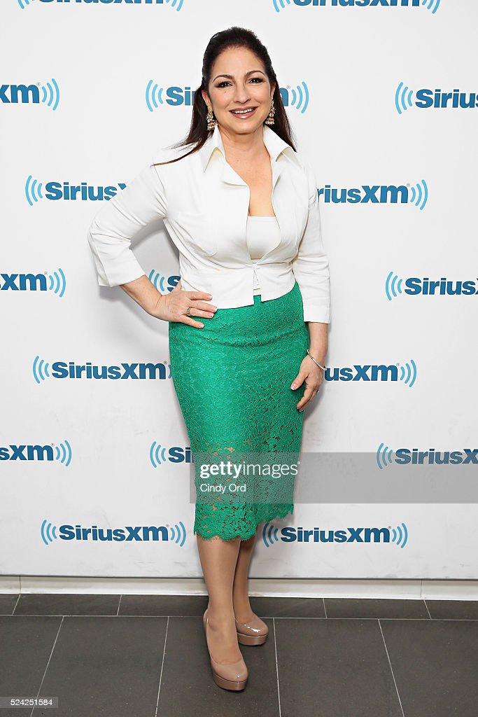 Singer Gloria Estefan visits the SiriusXM Studio on April 25 2016 in New York City