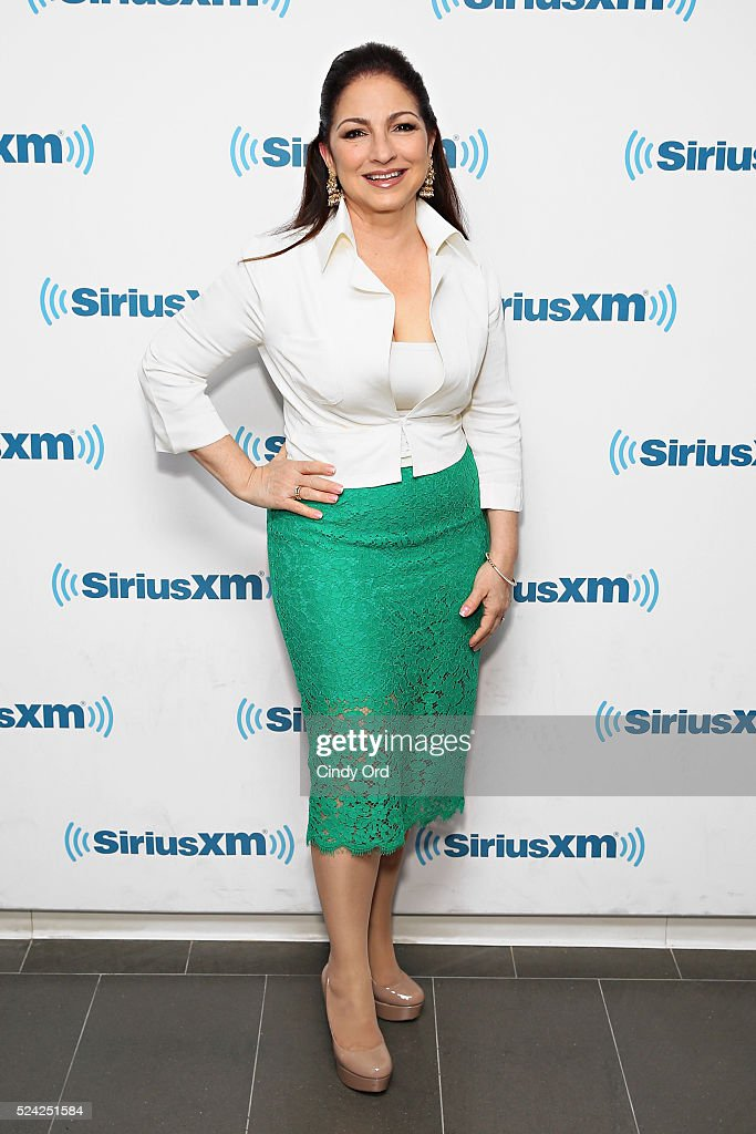 Singer Gloria Estefan visits the SiriusXM Studio on April 25, 2016 in New York City.