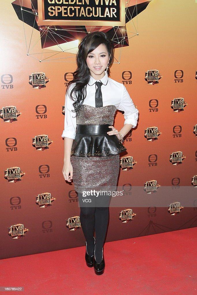 Singer Gloria Tang attends TVB Golden Viva Spectacular at TVB City on February 5, 2013 in Hong Kong.