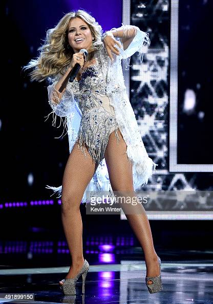 Singer Gloria Trevi performs onstage during Telemundo's Latin American Music Awards at the Dolby Theatre on October 8 2015 in Hollywood California