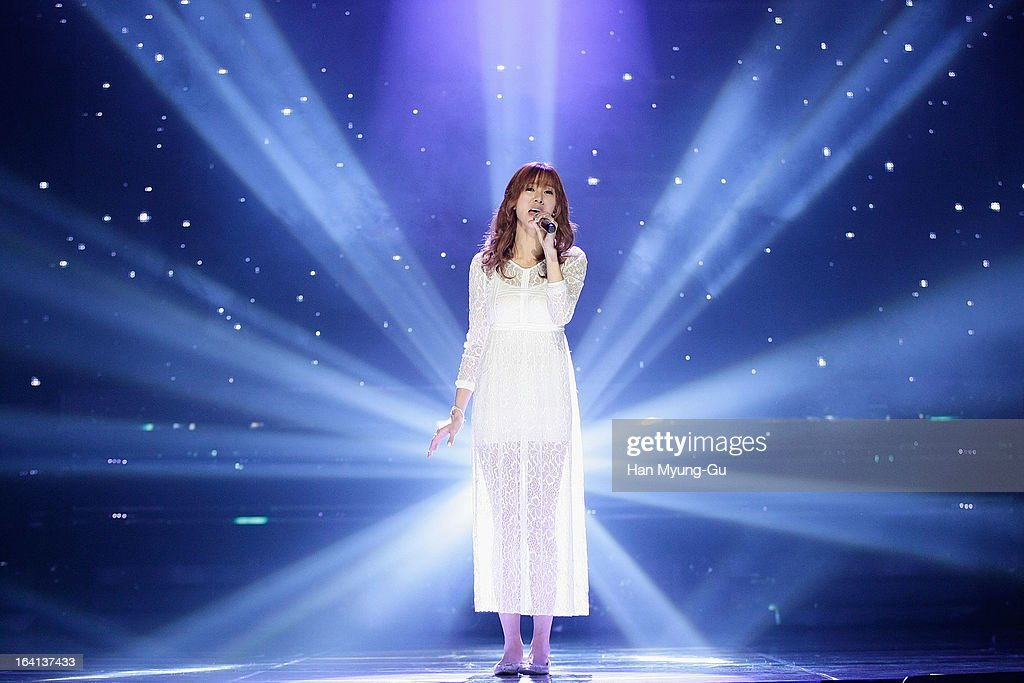 Singer G.NA performs onstage during the MBC Music 'Show Champion' at Uniqlo-AX Hall on March 20, 2013 in Seoul, South Korea.