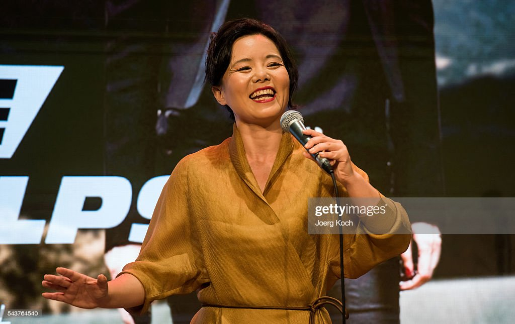 Singer Gong Linna attends a press conference about the movie 'Love of Alps (AT)' during the Munich Film Festival 2016 at Ampere-Muffatwerk on June 30, 2016 in Munich, Germany.
