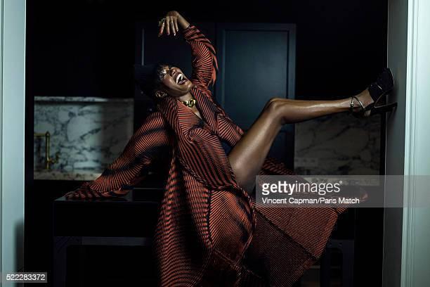 Singer Grace Jones is photographed for Paris Match on March 16 2016 in Paris France