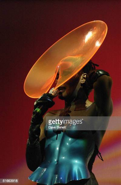 Singer Grace Jones performs at actor Billy Zane's birthday party held at The Shepherds Bush Empire on 11th March 2004 in London