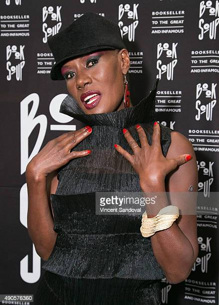 Singer Grace Jones signs and discusses her new book 'I'll Never Write My Memoirs' at Book Soup on September 29 2015 in West Hollywood California