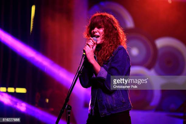 Singer Grace Mitchell performs at Music Is Universal Styldby Gap presented by Marriott Rewards and Universal Music Group during SXSW at the JW...