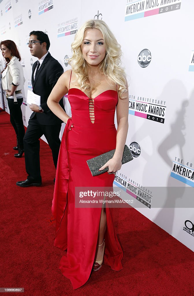 Singer Grace Valerie attends the 40th American Music Awards held at Nokia Theatre L.A. Live on November 18, 2012 in Los Angeles, California.