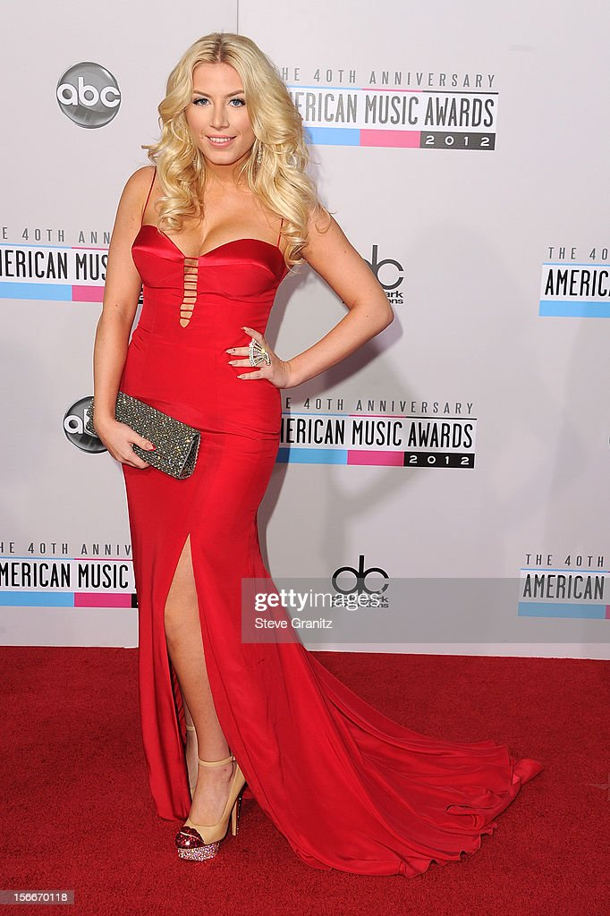 Singer Grace Valerie attends the 40th Anniversary American Music Awards held at Nokia Theatre L.A. Live on November 18, 2012 in Los Angeles, California.