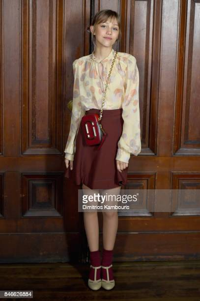 Singer Grace VanderWaal attends Marc Jacobs SS18 fashion show during New York Fashion Week at Park Avenue Armory on September 13 2017 in New York City