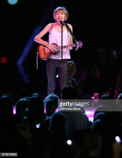 Singer Grace VanderWaal performs onstage at WE Day California to celebrate young people changing the world at The Forum on April 27 2017 in Inglewood...