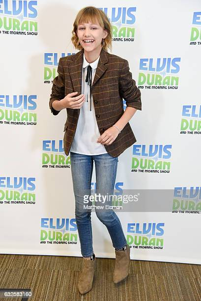 Singer Grace VanderWaal poses for a photo during 'The Elvis Duran Z100 Morning Show' at Z100 Studio on January 24 2017 in New York City