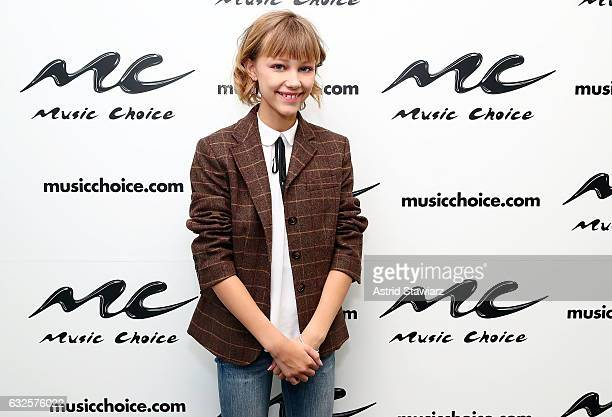Singer Grace VanderWaal visits Music Choice on January 24 2017 in New York City