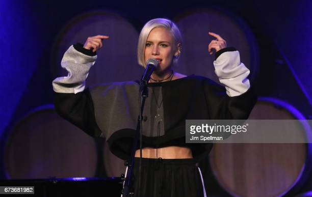 Singer Grace Weber attends the Aasif Mandvi Friends AllStar Deportation Jamboree at City Winery on April 26 2017 in New York City