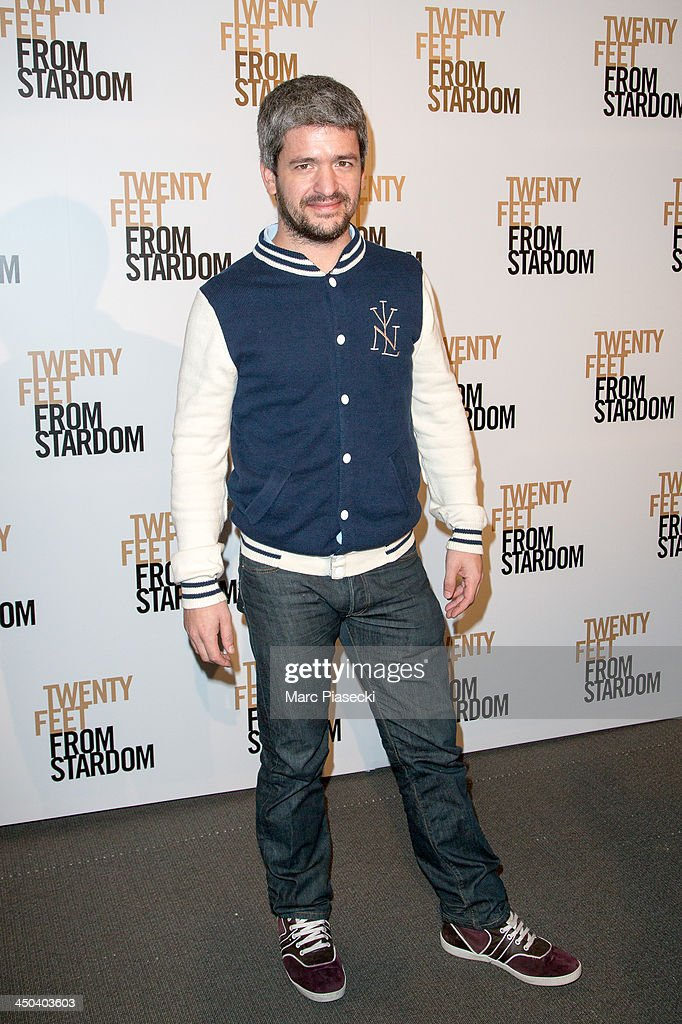 Singer Gregoire attends the 'Twenty feet from stardom' Paris premiere at Cinema UGC Normandie on November 18, 2013 in Paris, France.