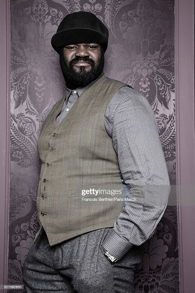 Singer <a gi-track='captionPersonalityLinkClicked' href=/galleries/search?phrase=Gregory+Porter&family=editorial&specificpeople=7494861 ng-click='$event.stopPropagation()'>Gregory Porter</a> is photographed for Paris Match on March 16, 2016 in Paris, France.