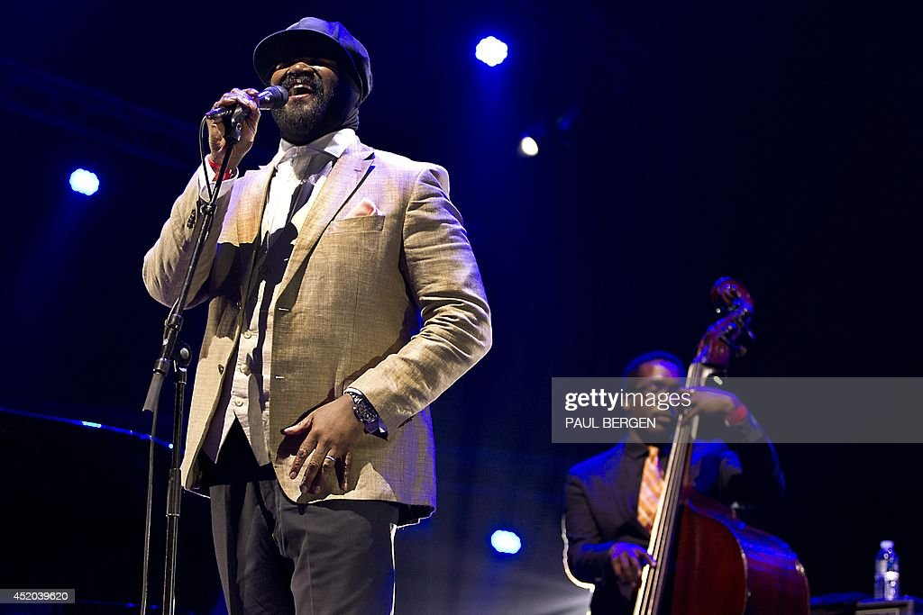 US singer Gregory Porter performs on stage on the first day of the North Sea Jazz Festival in Rotterdam, on July 11, 2014.