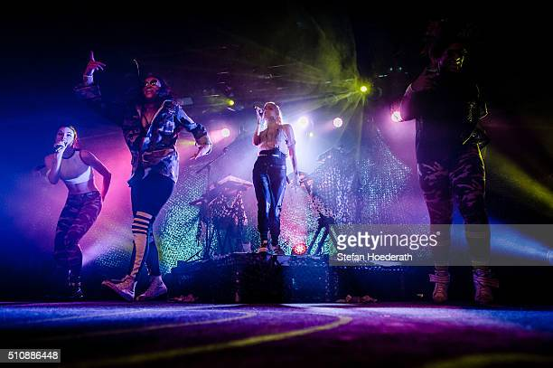 Singer Grimes aka Claire Boucher performs live on stage during a concert at Astra on February 17 2016 in Berlin Germany