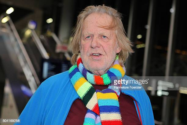 Singer Gunter Gabriel poses before the flight to Australia as a participant in the 2016 RTLTVShow 'Dschungelcamp ' I'm a celebrity get me out of...