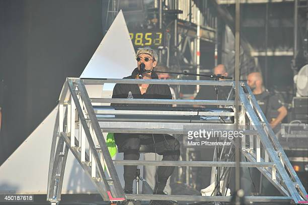 Singer Gustaf Noren of Swedish Rock Band Mando Diao performs on stage during the second day of 'Rock am Ring' on June 06 2014 in Nuerburg Germany