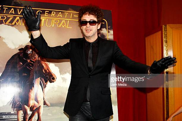 Singer Gustavo Cerati poses for a photograph during a press conference to present his new album 'Fuerza Natural' on September 03 2009 in Mexico City...