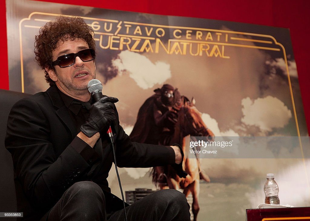 """Gustavo Cerati Launches His New Album """"Fuerza Natural"""" In Mexico City"""