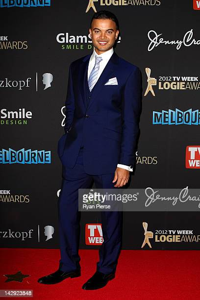 Singer Guy Sebastian arrives at the 2012 Logie Awards at the Crown Palladium on April 15 2012 in Melbourne Australia