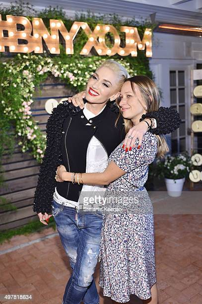 Singer Gwen Stefani and designer Jennifer Meyer attend Barneys New York Jennifer Aniston and Tobey Maguire host a private dinner to celebrate The...